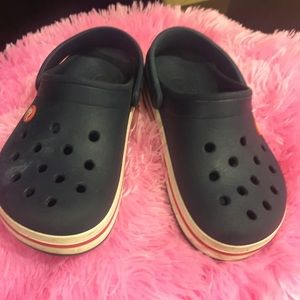 Pair of Navy crocs! Excellent condition.